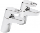Sagittarius Vento - Bath Tap - Deck Mounted Pillar (Pair) - Chrome - VE/102/C