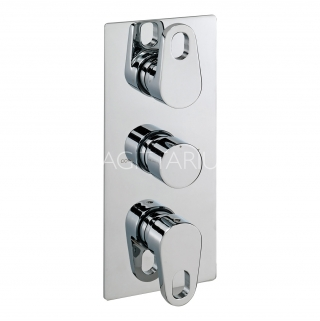 Sagittarius Vento Thermo Conc Shower/3 Way Diverter - Chrome VE/277/C