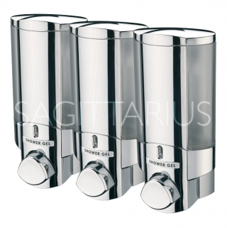 Sagittarius Vienna 3 Section Soap Dispenser - Chrome AC/243/C