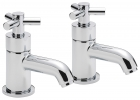 Sagittarius Zone - Bath Tap - Deck Mounted Pillar (Pair) - Chrome - ZO/102/C