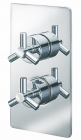 Sagittarius Zone Concealed Thermostatic Shower Valve with 2 Way Diverter - Chrome ZO177C