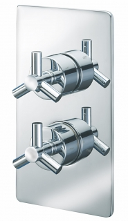 Zone Concealed Thermostatic Shower Valve - Two Way Diverter