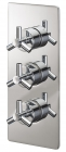 Sagittarius Zone Concealed Thermostatic Shower Valve with 3 Way Diverter - Chrome ZO277C