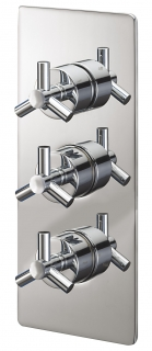 Zone Concealed Thermostatic Shower Valve with Three Way Diverter