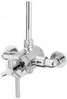 Sagittarius Zone Exposed Thermostatic Shower Valve with Adjustable Centres - Chrome ZO191C