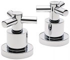 "Sagittarius Zone Side Valves Deck Mounted (Pair) 3/4"" - Chrome ZO187C"