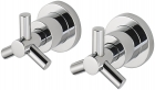 "Sagittarius Zone Side Valves Deck Mounted (Pair) 1/2"" - Chrome ZO195C"