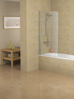 Showerlux Legacy Single Panel Overbath Screen