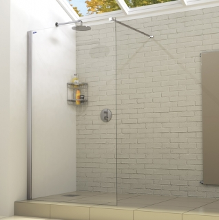 Showerlux Linea Touch Wet Room Panel