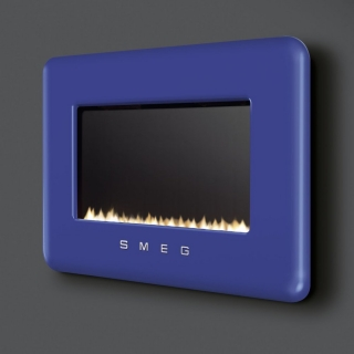 Smeg Retro Flueless Gas Fire - Blue Natural Gas