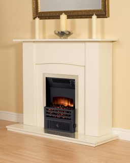 Smith's Cream Fire Surround (Cream Back Plate & Hearth)