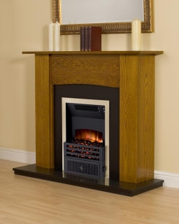Smith's Yew Fire Surround (Black Back Plate & Hearth)