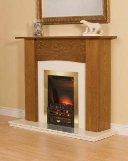 Smith's Yew Fire Surround (Cream Back Plate & Hearth)