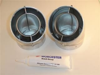 WORCESTER 77161910140 45 DEG FLUE ELBOW (PAIR)-F106E45