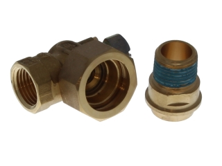 BAXI 5110466 GAS TAP C/W NUT & TAIL PIECE