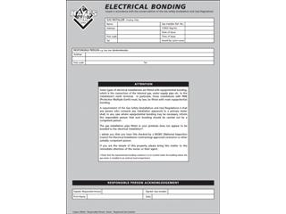 HAYES 663011 ELECTRICAL CROSS BONDING (PAD OF 25)