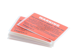 HAYES 66.3023 WARNING UNSAFE APPLIANCE LABELS (PACK OF 10)