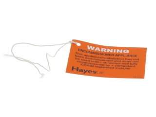 HAYES 663050 UNCOMMISSIONED APPLIANCE TAGS (PACK OF 10)