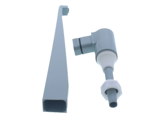 HEATRAE 95604659 SPOUT PLASTIC LIGHT GREY