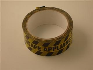 ARCTIC PH095C UNSAFE APPLIANCE TAPE 38MM X 33 METRES BLACK ON YELLOW