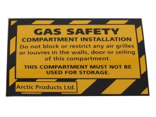 ARCTIC PH098B SAFETY COMPARTMENT STICKERS