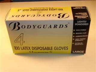 ARCTIC PH102 LATEX GLOVES BOX OF 100 WATERPROOF AND IMPERVIOUS TO DIRT DUST & GRE