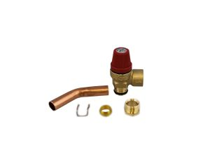 REMEHA 720481601 SAFETY PRESSURE RELIEF VALVE WITH PIPE
