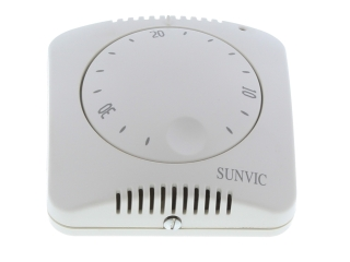 SUNVIC TLX9201 SILVER EFFECT ROOM THERMOSTAT