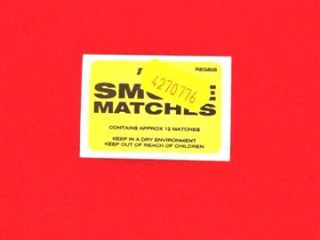 REGIN REGS05 SMOKE MATCHES (BOX OF 12)