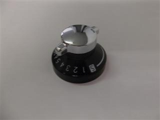 STOVES BELLING AND NEW WORLD 82834867 KNOB MAIN OVEN BLK/CHR