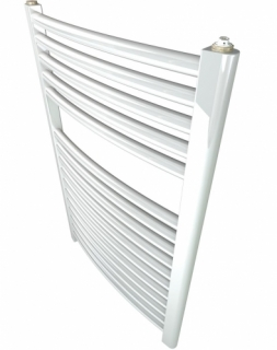Stelrad Ladder Curved Towel Rail White