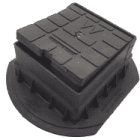 Image for Talbot MDPE Surface Box - Water (Black) - 1202A