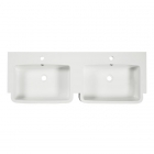 Image for Tavistock Courier 1200mm Isocast 2 Tap Hole Double Basin - CR1200D