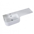 Image for Tavistock Match 1000mm Isocast LH 1 Tap Hole Basin - MA1BL
