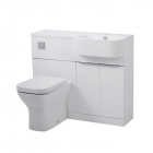Image for Tavistock Match 1000mm Semi-Countertop & WC Unit Run Right Gloss White - MATRW