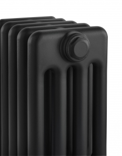 The Radiator Company Ancona Floor Mounted Column Radiators - Jet Black