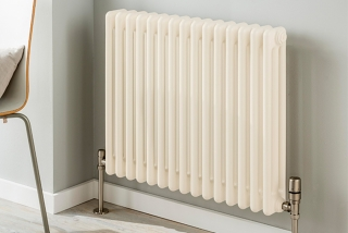 The Radiator Company Ancona Floor Mounted Column Radiators - Oyster White
