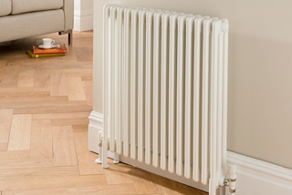 The Radiator Company Ancona Floor Mounted Column Radiators - White