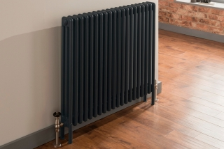 The Radiator Company Ancona Wall Mounted Column Radiators - Anthracite Grey