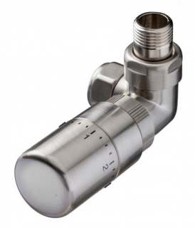 The Radiator Company Corner Ideal TRV Pack - Nickel (Angled)