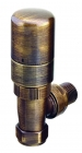 Image for The Radiator Company Ideal TRV Pack - Antique Brass (Angled)