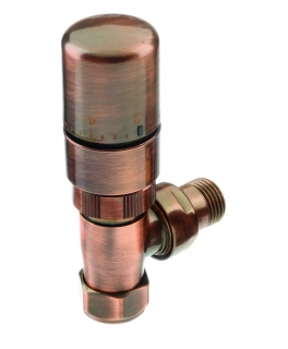 The Radiator Company Ideal TRV Pack - Antique Copper (Angled)