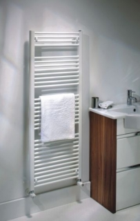 The Radiator Company Lupin Towel Rail - White
