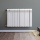 Image for The Radiator Company Ottimo Horizontal Radiator - 698mm x 908mm (11 Sections) - White
