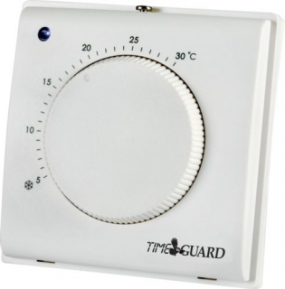 Time Guard Electronic Room Thermostat with Tamper Proof Cover TRT032