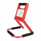 Image for TIME LED 10w Rechargeable LED Folding Flood Light (UK) - Red - 764107