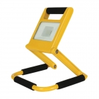 Image for TIME LED 10w Rechargeable LED Folding Flood Light (UK) - Yellow - 764114