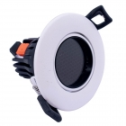 Image for TIME LED 7w COB Adjustable Anti-Glare LED Downlight Gloss White - 769553