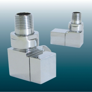 Towelrads 15mm Corner Valves - Square (Pair)