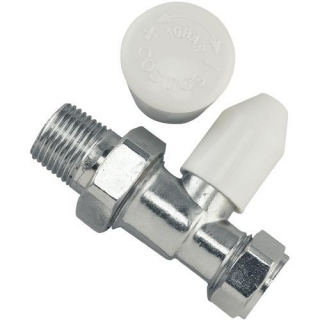 Tradesave Manual Wheelhead/Lockshield Valve 15mm Straight